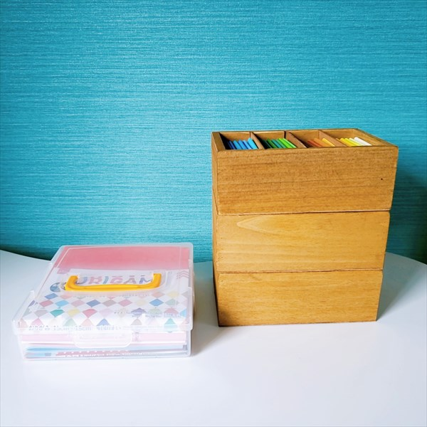 モンテッソーリの色板折り紙バージョンの収納