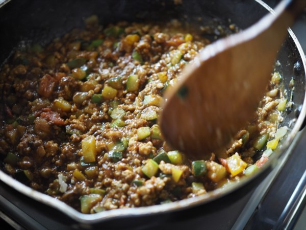 野菜たっぷりキーマカレー