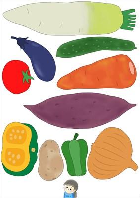 まめねこの野菜素材