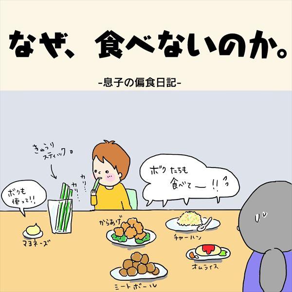 なぜ、食べないのか。息子の偏食日記1