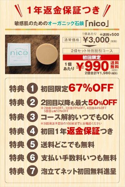 nico石鹸キャンペーン